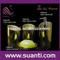 Bathroom design 4pcs resin golden e-plating home accessories sets