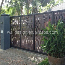 Residential quarters decorative metal fence
