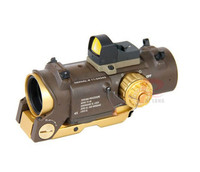 DR Specter 4X FIXED DUAL ROLE SCOPE RED GREEN DOT 20mm SIGHT HT6-0005TAN
