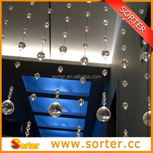 New hanging crystal bead strand chain curtain for room dividers