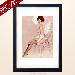 2015 Modern figurative sexy lady painting by printed for wholesaling