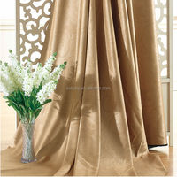 100% Polyester China embossed cationic blackout Curtain fabric for hotel/kitchen/hospital/meeting room/home