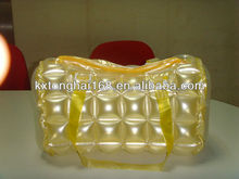 Plastic inflatable bubble beach tote bag