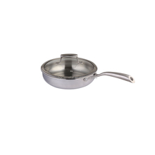 Hight Quality Stainless steel Mirror polish cookware frying pan manufacture
