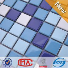 Jy-sw-02 Huizhou especial cor azul telha de mosaico de cerâmica piscina telha de mosaico em padrão diferente