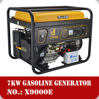 7kw portable gasoline generator 16hp Honda type engine 420cc electric start with battery