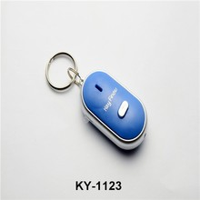 Wholesale china price fashion cheaper keychains acrylic Whistle LED Key finder lost