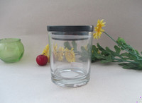 metro glass candle jar with wooden cap 12oz