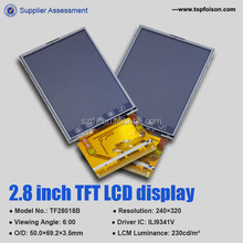 Manufacturer lcd panel with resistive touch screen 2.8 inch for consumer electronics in Shenzhen