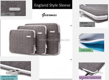 Heriringbone England style sleeve for Macbook Air/Pro Grey and Black Cases for Businessman