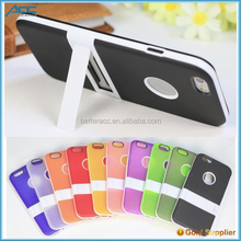 Hybrid shockproof TPU+PC kickstand phone case for iPhone 6s