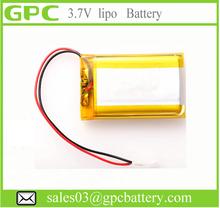 Lithium Polymer high temperature battery 3.7v 800mah 1000mAh shenzhen