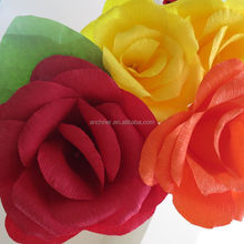 2015 new product exquisite wedding silk red rose bush artificial flower