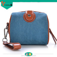 leisure casual wholesale women custom mini cute canvas handbag for young ladies