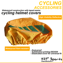 professional lamination fabrics High Visibility Cycling Reflective Waterproof Helmet Cover