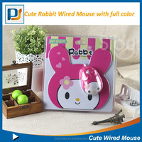 Gift Kids cute Decoration Rabbits Bunny small size cable mouse/mouse pad