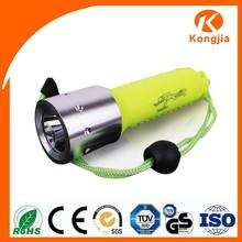 Diving Green Strong Light Torch ABS Flashlight Led Torch Light Waterproof Led Flashlight