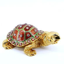 Custom hot popular metal enamel tortoise trinket gift jewelry box item souvenir decoration(QF3568)