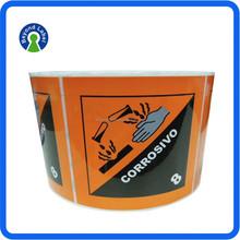 Customised Industrier Used Printed Private Vinyl Warning Sticker, Waterproof Vinyl Sticker