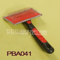 Master Grooming Tool Dog Pet Triangle Slicker Brush Erogomic Rubber Handle Factory PBA041