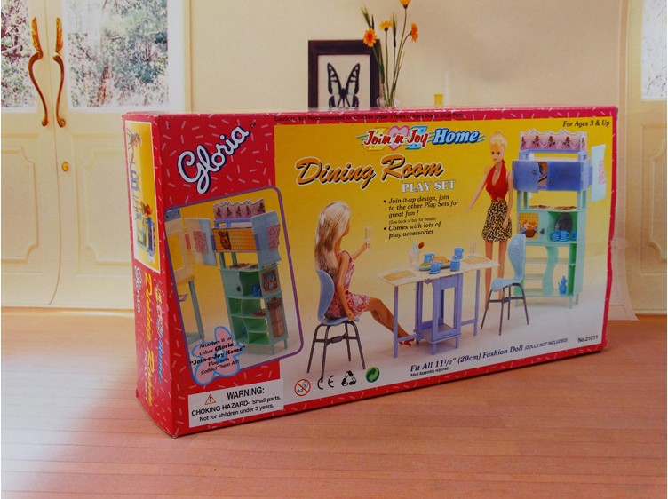 Christmas reward current play toy doll home eating room furnishings for 1/6 BJD simba lica monster excessive for  barbie dolls home