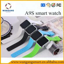"Newest products on china market A9s smart watch MTK6260A 533MHz 1.54"" TFT touch screen ce rohs smart watch"