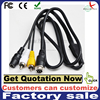 10meters 4pin aviation male to RCA audio video cable car camera extension cable