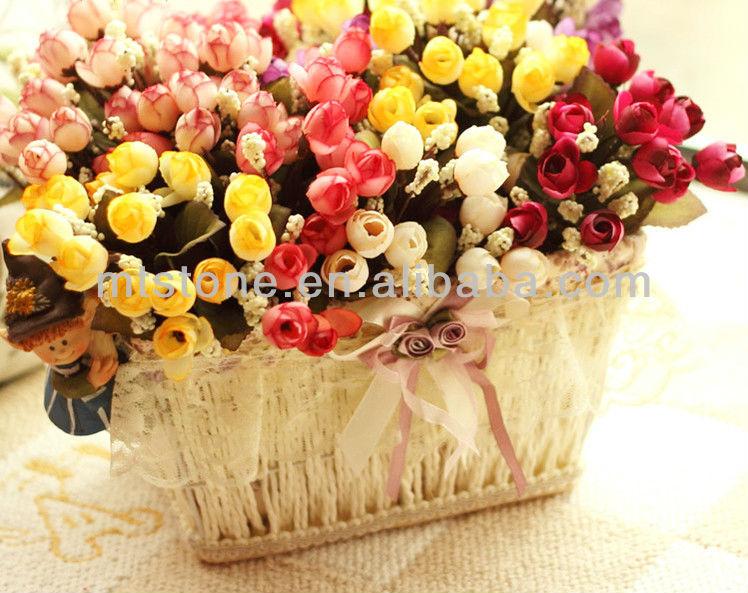 2013 heiß verkauf mini kunstseide blume, mini rose, hochzeit blume