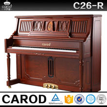 musical keyboard 88 key red walnut solid wooden console piano