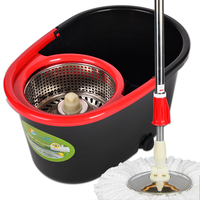 extensible pole thick bucket spin magic mop 360