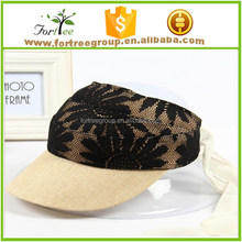 China wholesale popular design lace sun visor hat for teen young girls