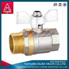 long stem brass ball valve made in YUHUAN OUJIA TMOK