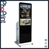 High quality portable outdoor floor standing photo booth kiosk with hd advertising play