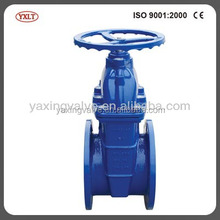 PN10/16/25 DIN3352 F4 Ductile iron water soft seal stem gate valve