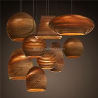 modern brown carton coffee shop bar drop pendant lighting china supplier indoor lighting
