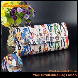 2015 wholesale PU leather print design beautiful woman handbags