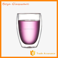 350ml Double Glass Cup