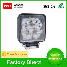 Trade assurance hot sell 27w LED work light,IP67 led worklight,CE/Rohs approved led work lamp