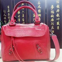 Venta al por mayor de moda impreso bolsos/charol rojo bolso de cuero/monedero de cuero