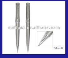 (va1104) Black and silver promotion metal gift pen with twist mechanism