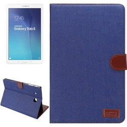 Hot!!! Denim Texture Leather protective case for Samsung tab E 9.6 case cover