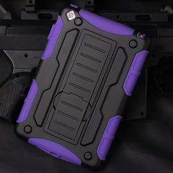 Heavy Duty] Hard Shock-Resistant Hybrid Cover Dual Layer Belt Clip Holster Kickstand Case For ipad mini ,mini 2,mini 3 air