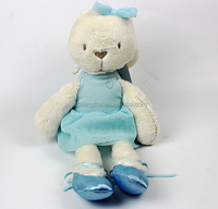 Custom high quality plush rabbit toy with skirt for baby stuffed plush bunny baby soft toy