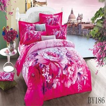 high quality 3d effect comforter sets applique bed cover