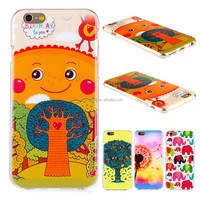 Printable Cartoon Flower Design Colorful Soft TPU Gel Cell Phone Case Cover For iPhone 6/6 Plus