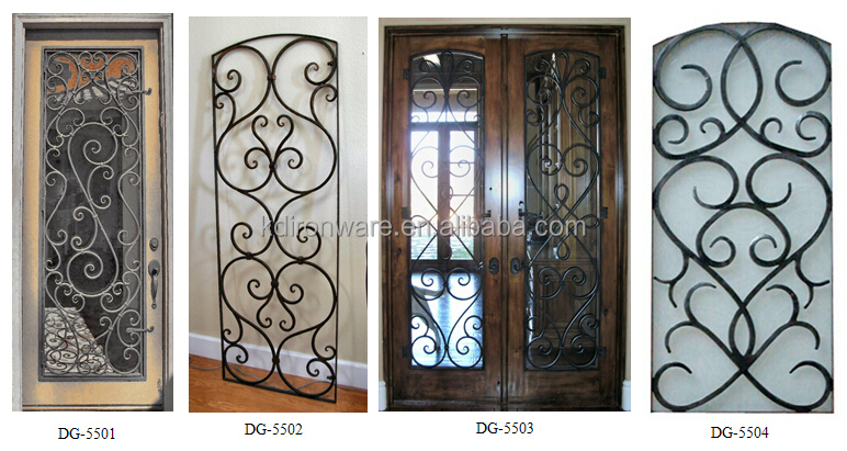 2015 Popular Wrought Iron Metal Main Entrance Doors Grill: main entrance door grill