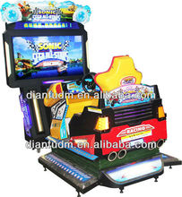 Indoor coin operated video truck driving game machine