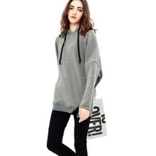 wholesale online shopping women clothing loose and leisure hoodie sweatshirt