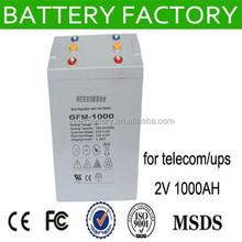 free maintenance vrla battery 2v 1000ah solar panel batteries 1000ahagm battery 12v