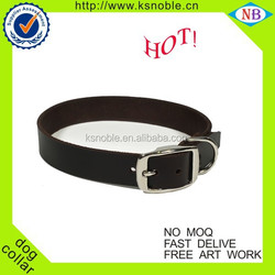 Customized black leather high quality dog collar and leash